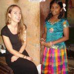 Noémie fait connaissance de sa filleule Narmatha.