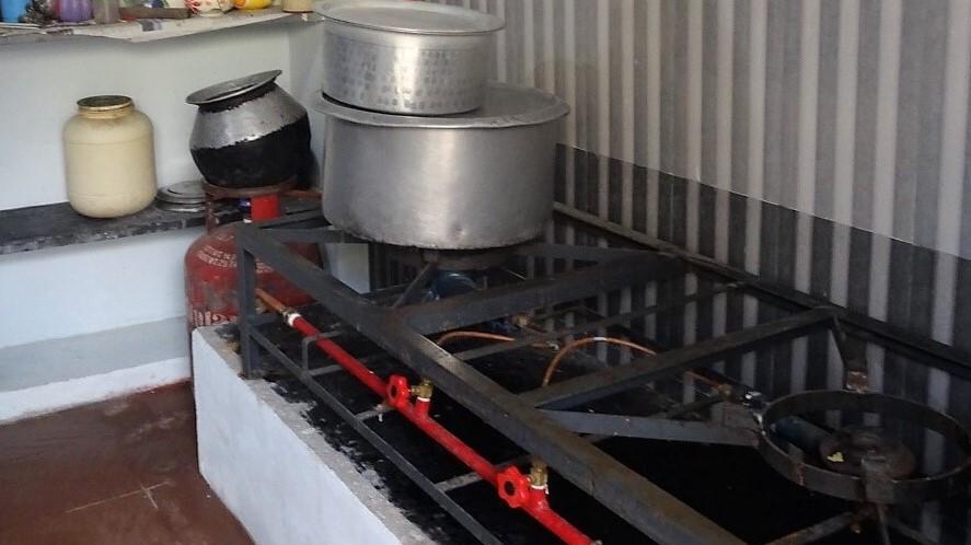 La cuisine de l'école d'Ottankadu Vetty