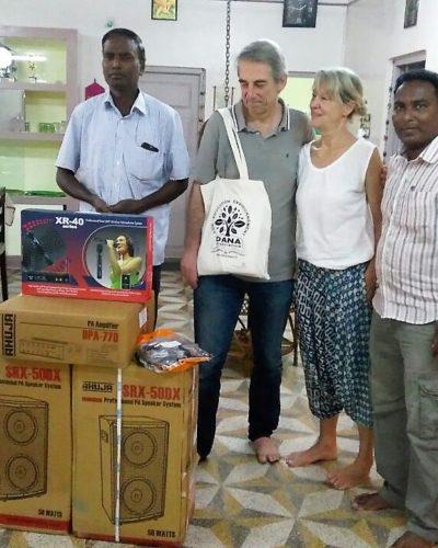 Achat de matériel audio pour l'école d'Ottankadu